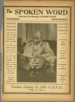 Spoken word, vol. 03, no. 01 (October 20, 1936)