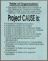 Project cause, table of organization