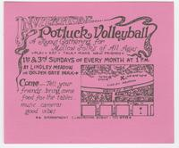 Invitation: Potluck Volleyball, a joyous gathering for mellow folks of all ages