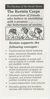 Nucleus of the social scene: the Kerista corps, a constortium of friends who believe in socializing with a purpose… the betterment of society