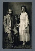 Portrait of George Whiffin and Angie Bowers, House of David, Benton Harbor, Michigan [front]