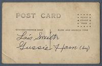 Portrait of two children, Lois Smith and Gussie Harn, House of David, Benton Harbor, Michigan [back]