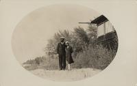 Portrait of George Whiffen and Angie Bowers, House of David, Benton Harbor, Michigan [front]