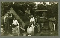 Agricultural workers on break on the farm of the Israelite House of David, Benton Harbor, Michigan