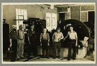 Workers in the power plant of the Israelite House of David colony, Benton Harbor, Michigan