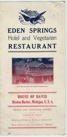 Eden Springs Hotel and Vegetarian Restaurant menu