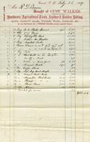 Bill of Sale of Gust. Walker, Concord, New Hampshire
