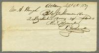 Bill of Sale of J. Sherman & Co. to Mr. A. Hough, Albany, New York, September 6, 1839 [side 1]