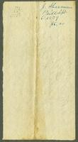 Bill of Sale of J. Sherman & Co. to Mr. A. Hough, Albany, New York, September 6, 1839 [side 2]
