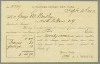 Bill of Sale of A.J. White, New York (Includes Envelope)