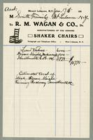 Bill of sale of R.M. Wagan & Co., Dr., West Lebanon, New York