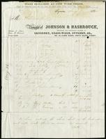 Bill of sale of Johnson & Hasbrouck, Syracuse, New York