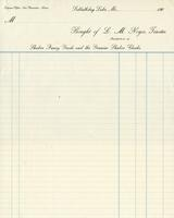 Bill of sale of L. M. Noyes, Trustee, Manufacturer of Shaker fancy goods and the genuine Shaker cloaks, Sabbathday Lake, Maine