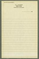 Letterhead for D.C. Wilson, Shaker Society, Sabbathday Lake, Maine