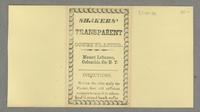 Shakers' Transparent Court Plaster