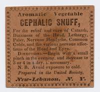 Aromatic Vegetable Cephalic Snuff