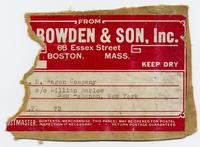 From Bowden & Son, Inc.