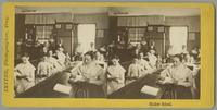 Group of Shaker women and girls reading