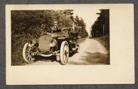 Automobile, one driver, one passenger, Shaker Village, Alfred, Maine