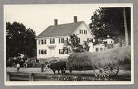 Shakers' Trustee's Office - Alfred, Maine [pictured: Lucinda, Lucinda's sister on the front seat of Auto, Edith in the back, and Ida and Stephen [Goings?] on the hay]