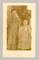 Laura Robinson and Florence Evelyn Guertin, Canterbury, New Hampshire