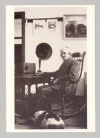 Canterbury's Last Shaker Brother Irving Greenwood (1876-1939) with his Dog Dewey, 1923 [front]