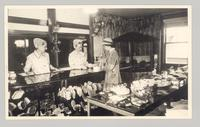 Shaker Gift Shop, East Canterbury, N. H. [L - R: Marguerite Frost, Ida Crook and a customer] [front]