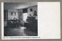 Elder H. C. Blinn in his office at the Shakers, Enfield, N.H. [front]
