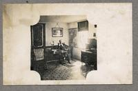 Elder H. C. Blinn in his office at the Shakers, Enfield, New Hampshire [front]
