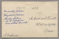Shaker Sisters at W. Pittsfield also called Hancock. [back]