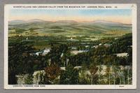 Shaker Village and Lebanon Valley from the Mountain Top, Lebanon Trail, Mass. -- Looking towards New York [front]
