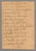 List of thirteen names, Shakers, Mt. Lebanon, New York [front]