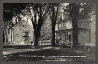 Approaching Shaker Village -- The Central Dwelling And Shaker Store. Poland Spring, Maine