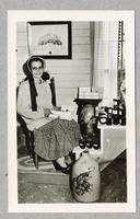Sister Mildred Barker Sabbathday Lake, Me. At Shaker Museum -- 1956