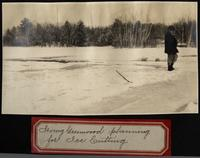 Irving Greenwood planning for ice cutting
