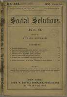 Social solutions, no. 6 (August 06, 1886)