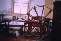 Spinning Wheels in room at Snow Hill Cloister