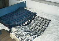 Coverlets in drawer in room at Snow Hill Cloister