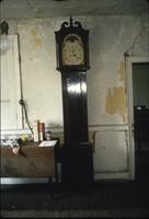 Grandfather clock in room at Snow Hill Cloister