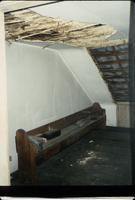 Boarded dormer and bench in attic at Snow Hill Cloister
