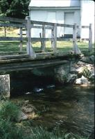 Bridge spanning creek near church at Snow Hill Cloister