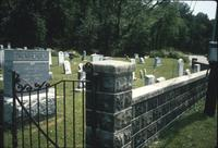 Cemetery wall and gate at Snow Hill Cloister