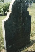 Back of Peter Lehman's grave marker at Snow Hill Cloister