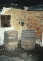 Barrels in cellar at Snow Hill Cloister