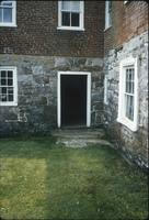 Exterior view of outer doors of cellar at Snow Hill Cloister
