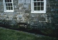 Natural spring next to building at Snow Hill Cloister