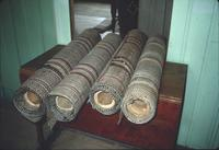 Carpet rolls in room at Snow Hill Cloister