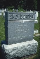 Snowberger Family grave marker at Snow Hill Cloister