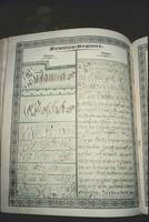 Family register in Bible at Snow Hill Cloister