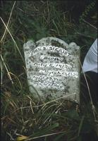 John Secrist's grave marker at Mentzer Cemetery at Snow Hill Cloister